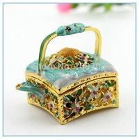handmade enamel tea pot shape decorative box wholesales free shipping