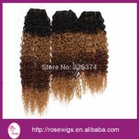 "Top grade brazilian virgin ombre hair deep curly wave Mix Size 10""-30"" 3pcs/lot"
