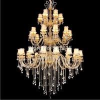 largest crystal chandelier multi lights chandelier 110~240V hotel lobby crystal chandelier modern biggest chandelier