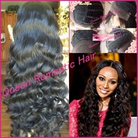 Fater delivery Grade5A Fashion Wavy Brazilian virgin Human Hair Gluless Front lace wig Bleached knots lace front wigs