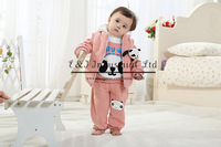 2014 Fashion Kids Clothing Set 3 Pcs Cute Bear Vest With Cup And Jacket And Soft Cotton Pants Children Outfit Hot Sale