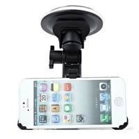 Free shipping ! Fashion 360 Rotating In-car Mobile Holder With Big Size Suction Cup For iPhone 5/5C/5S