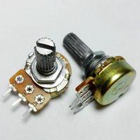 B10K Single Linear Pot Potentiometer 10K 20mm Shaft with Nuts Shims