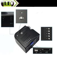 Mini LED Pro PortableBlack LED Video UC28 DLP Projector Full HD AV SD USB  Home theater Digital Projector Free Shipping