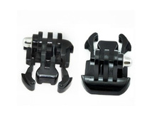 GoPro hero3 + / 3/2/1 generation of flat buckle for quick installation with a chest strap helmet  2pcs