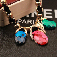 Free Ship $15 Fashion Vintage Statement Baroque Party Jewelry Gold Plated Big Crystal Stone Women Pendant Necklace A00113