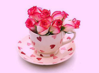 diy diamond painting sets 30*22 pink lovely flower rose cup diy square drill resinstone diamond painting decoration patchwork