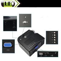 Wholesale  MINI Portable LED Black Digital Projector  UC28 AV VGA SD USB Slot with Remote Vedio Control Digital Projector