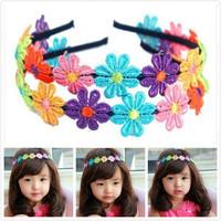 Artificial Flower Kids HEADBAND Hair Band Head. 20 pc/lot, Wholesale