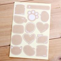 Kraft paper blank adhesive sticker Diy sealing paste Packaging Label for gift, 420 pcs/lot