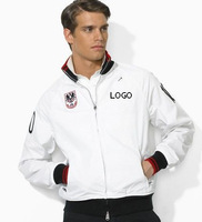2014 new price spike, free shipping, men's zipper jacket, double, embroidery LOGO, good quality, German flag