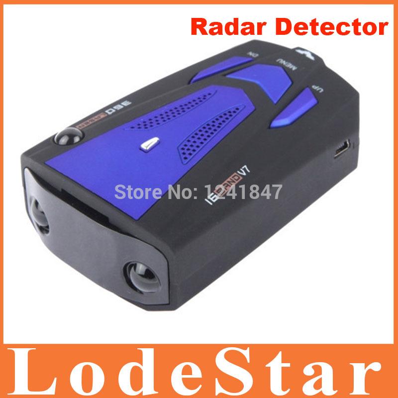 Free Shipping V7 radar detector Voice Alert Car Radar cobra Detector Russia and English for Car Speed Limited detector de radar(China (Mainland))