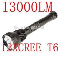 New 13000 Lumen 12x CREE XM-L XML T6 12T6 12xT6 LED Light Flashlight Torch Lamp Free shipping