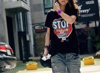 Free shipping! Hot New Topic 1 Dock shirts T Shirt Women tees women type T-shirts Women's Printed T Shirts L002