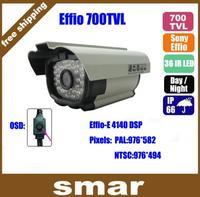 Promotional Stock!! 1/3 Sony CCD Effio-E 700TVL 36 IR Night Vision Waterproof Security Camera Outdoor Via OSD Menu Free Shipping