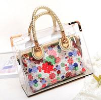 Free Shipping Summer New Style Transparent Jelly Handbag