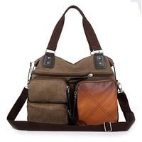 Free shipping 2014 Hot sale fashionable handbag European and American style handbags Men's canvas shoulder bag Retro hand bags