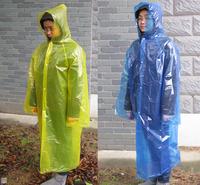 Free shipping NatureHike-NH summer Outdoor light raincoat button type with cap long sleeves rainwear blue & yellow