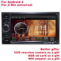 New Android 4 Two Din universal Car DVD Head Unit DVR WIFI 3G Better Quality Better Service Free Shipping+Better gifts included