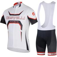 Cool Men Cycling clothing cycling suit jersey shirt+bib shorts bicycle set riding sportswear  S-XXXL