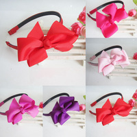 Colorful Ribbon Flower Baby  Headbands Baby girl Hair Bands headwear Kids' accessories  1404HE006