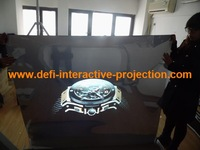 "2014 NEW ! 60"" of 1 square meter Adhesive  mirror Rear projection film/foil for shopping mall, advertising"
