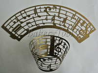 48 pcs musical note wedding bakeware cupcake wrappers and toppers fondant cake stands Alibaba products