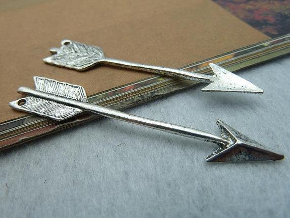 Wholesale diy accessory Diy accessories handmade materials vintage antique silver cupid arrow b430 11 63mm free