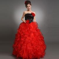 2012 wedding formal dress long design red evening dress performance wear color equipment