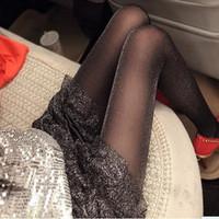 Ultra-thin metallic yarn repair ultra-thin Core-spun Yarn sexy pantyhose liangsi silver onions pearlizing socks