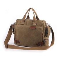 Free shipping 2014 New arrived fashionable canvas handbag for men High quality cloth fabric shoulder bag Business Bags