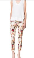 Fall 2013 new European and American women's nine points trousers wholesale printing pants S,M,L #4722