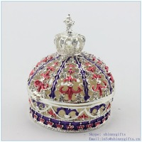 Crown shape cheap jewelry boxes wholesale Free shipping