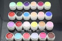 24 Mixed Different Pure Colors Nail Art UV Builder Gel Set for Nail Beauty Salon Supplies Shellac Nail Polish Set # 24*0.25oz