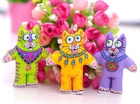 New Arrived 20pcs Free Shipping cute colorful cat FAT CAT  TOY CATNIP IN ASSORTED COLORS organic Catnip toy 20pcs/lot