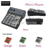 POWAVE audio mixer 2014 new mini sound mixer 4 channels USB Professional DJ Audio Mixer Console