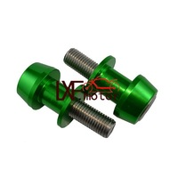 Green color 6mm Motorbike Accessories Aluminum Swingarm Spools slider stands screws fits for R1 R6