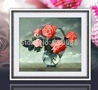 5D Diamond painting flower roses DIY cross stitch pattern, diamond embroidery, Rhinestone painting Home Decor 50 * 45 CM