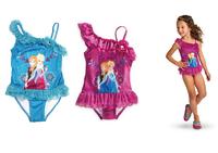 Frozen swim wear Elsa Anna one piece swimsuit girl Bathing Suit Children's Clothing Fashion Kids Clothes