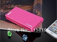 Wallet Dual USB Mobile Power Bank 20000mAh Travel Emergency Portable External Battery Pack + Retail Package 50pcs/lot
