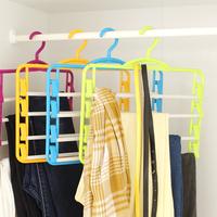 Free shipping Multi-layer hanging pants rack multifunction Plastic Flocking Rack Tie Scarf bags Hanger/Holder/Organizer
