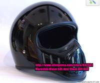 Motorcycle Helmet Brand TT&CO Thompson Black Cruise Spirit Rider Retro Half Helmet Summer Full Face Helmet Visor Glass Fiber