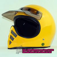 Motorcycle Helmet Brand TT&CO Thompson Yellow Cruise Spirit Rider Retro Motocross Helmet Summer Full Face Helmet Visor