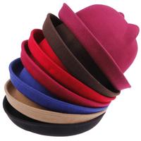 2014 New Arrival Products Women Unique Cute Wool Winter&Autumn Cat Ears Hat Cap Christmas Hot Sale Caps For Girls Hats EN24H