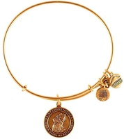 Alex and Ani Saint Christopher Guide My path Silver Plated Alloy Charm Bracelets and Bangles for girls