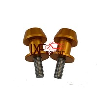 Golden 6mm Motorcycle Motorbike Accessories Aluminum Swingarm Spools slider stands screws fits for FZ6 FZ1