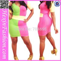 Free Shipping Sexy Night Girls Fashion Clubwear Sexy Bodycon Bandage Dress LB5754 Size S M L