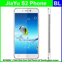 In Stock Original Jiayu S2 WCDMA 3G Cell Phone Octa Core MT6592 1.7Ghz  5.0inch 1920*1080P Gorilla glass screen Free Shipping