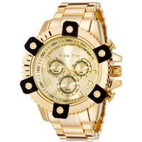 2014 new fashion Show Fine 1308 Men's Round Quartz Watch with Stainless Steel Strap (Gold)