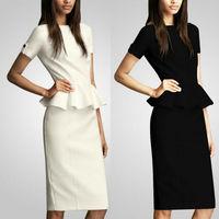 New 2014 Women Summer Dress Office Lady Casual Dress Women Work Wear Novelty Vintage Elegant Women Clothing Plus Size S-XXL